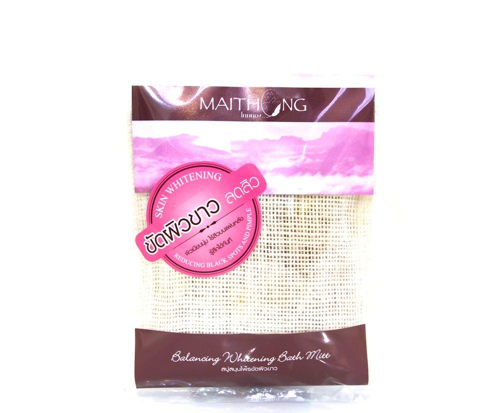 Maithong Awakening Whitening Bath Mitt Balances Skin Tone With Natural Anti-Oxidant Net Wt 3.53 oz.(Pack of 3)