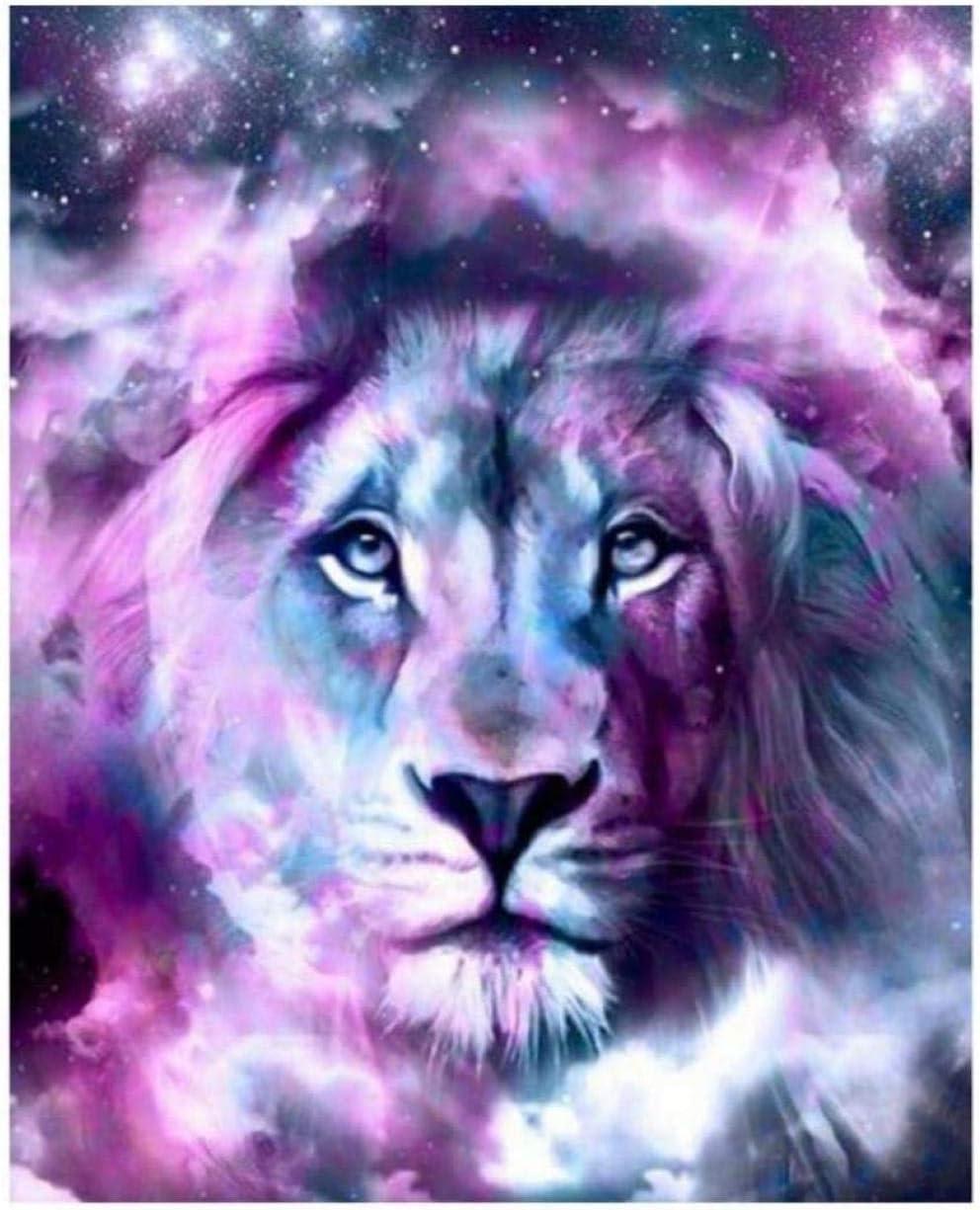 Tigre león lobo elefante caballo pintura diy pintura al óleo digital pintada a mano para matar el tiempo accesorios de decoración del hogar40x50 cm (con marco)