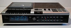Vtg GE FM/AM Digital Alarm Clock Radio Cassette Recorder Model 7-4956B Woodgrain