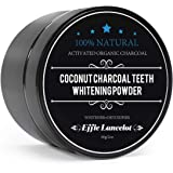 Activated Natural Bamboo Charcoal Teeth Whitening Powder, Effie Lancelot Tooth Whitener Powder for Stains, Tartar, Yellow Teeth and Bad Breath (60g, 2oz)
