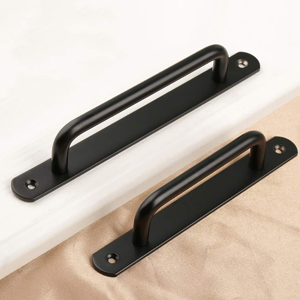 leather handle two sizes of handles double hole handle multi-color optional handle color : Brushed, Size : S LQ Handles and knobs Wardrobe handle 304 handle