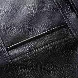 AIEOE Elderly Mens Winter Leather Vest Soft Warm