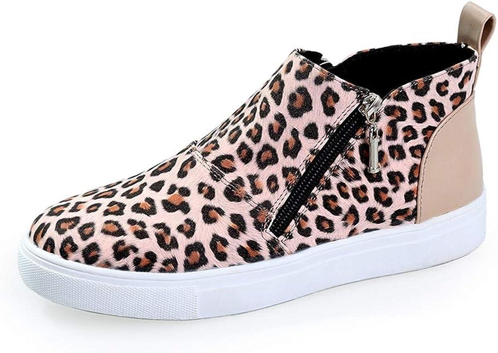 haoricu Women/'s Plus Size Shoes Ladies Casual Camouflage Flats Girl Comfortable Zipper Gao Bang Booties