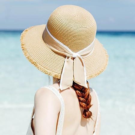 9ad4b3ff YXINY Sun Hats Straw Hat Summer Ladies Sun Protection Beach Hat Anti-UV  Seaside Holiday (Color : Dark Beige): Amazon.co.uk: Kitchen & Home
