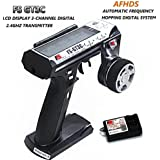 Flysky FS GT3C Remote Control 3CH 2.4GHz AFHDS RC Transmitter with Flysky FS GR3E RC Receiver for RC Car Boat by LITEBEE