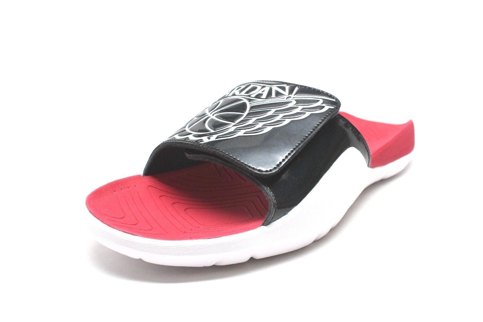 Jordan Hydro 7 Mens Slides Black/White/Gym Red/White aa2517-001 (8 M US)