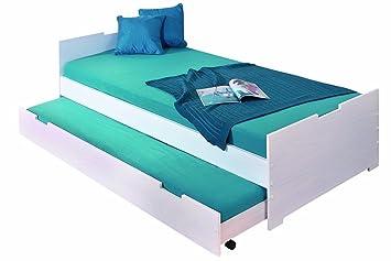 Kojenbett 90x200  Links 20703080 Bett 90x200 cm Kinderbett Gästebett Funktionsbett ...