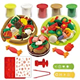 diy play dough - Colour Playdough Light Clay Dough Plasticine Mould Play Kit Diy Toy For Kid For Girls (Pizza)