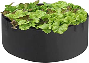 Planter Garden Bed Bag,Round Fabric Flower Raised Bed Garden Grow Bags Fabric Pots Breathable Planting Container for Herb Flower Vegetable Plants (50Gallon-35x35x11.81 inch)