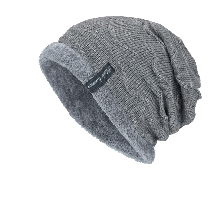 Men Winter Knitted Crochet Slouch Ski Cap Beanie Warm Hat DD