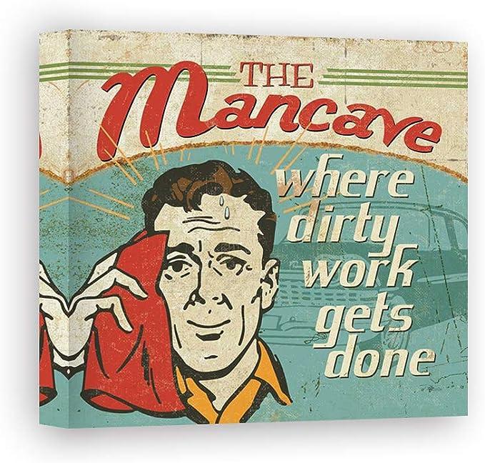 Impresión sobre Lienzo Wall Art Pela Studio Mancave III - Where Dirty Work Gets Done: Amazon.es: Hogar