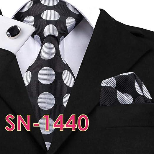 AK Hombres S Tie Sn-209 Gris Negro Paisley Tie Gemelos Conjuntos ...