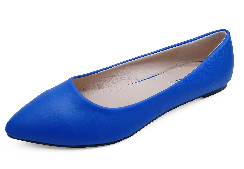 176e4e7f16019 Womens Blue Slip-On Work Flat Shoes Dolly Comfy Ballet Ballerina Pumps  Sizes 3-8: Amazon.co.uk: Shoes & Bags