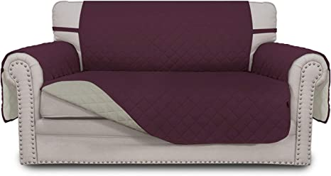 Sofa Throw Protector For Visitors,Kids,Pets /& Accidents Black//Burgundy For Chair,Loveseat EHP 3PC Reversible Furniture Slipcover Protector