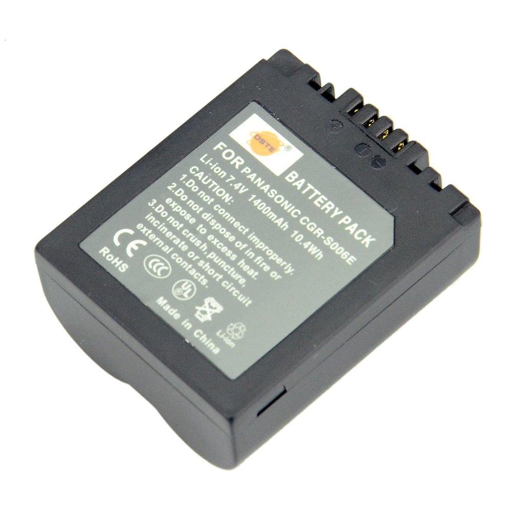 DMC-FZ18 D DMC-FZ18EB DMC-FZ18EGK DMC-FZ18GK DMW-BMA7 and Panasonic DMC-FZ28EFK CGR-S006A1B DMC-FZ18EG Charger DC62U for Panasonic CGR-S006 DMC-FZ18EGS DMC-FZ28EFS DMC-FZ18K DSTE/® 2pcs S006E Rechargeable Li-ion Battery CGA-S006 DMC-FZ18S