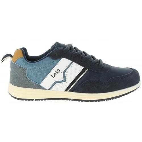 LOIS JEANS Zapatillas Deporte de Niño y Niña 83775 107 Marino: Amazon.es: Zapatos y complementos