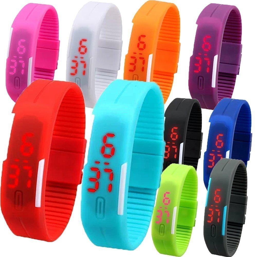 Lemonade - Pack of 24 - Colorful Unisex Silicone Digital LED Wrist Bands for Kids - Best Birthday Return Gift Item by LEMONADE