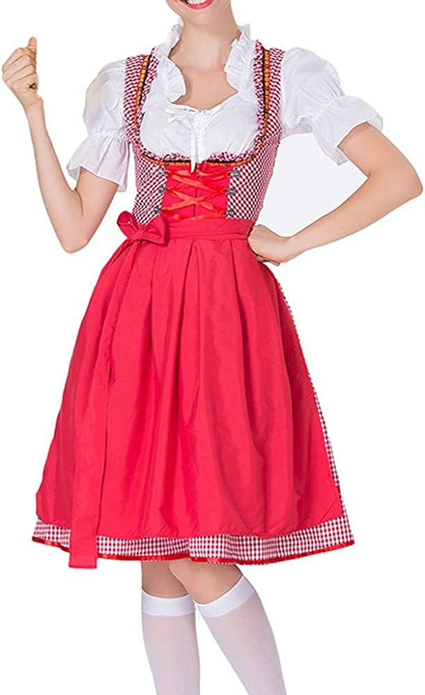 Goosun Dirndl marrón Traje de Tirolesa Vestido Moda Alemana ...