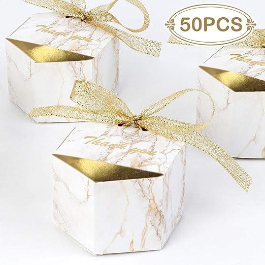 Amazon.com: AerWo 20 cajas de mármol, cajas de recuerdo de ...