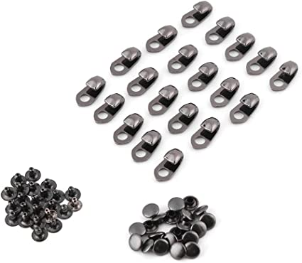 10 Sets Metal Boot Lace Hooks Lace Fittings with Rivets fit for Hiking Shoes