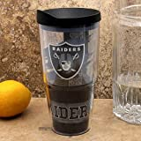 NFL Tervis Tumbler Oakland Raiders 24oz. Wrap Tumbler Pro with Travel Lid