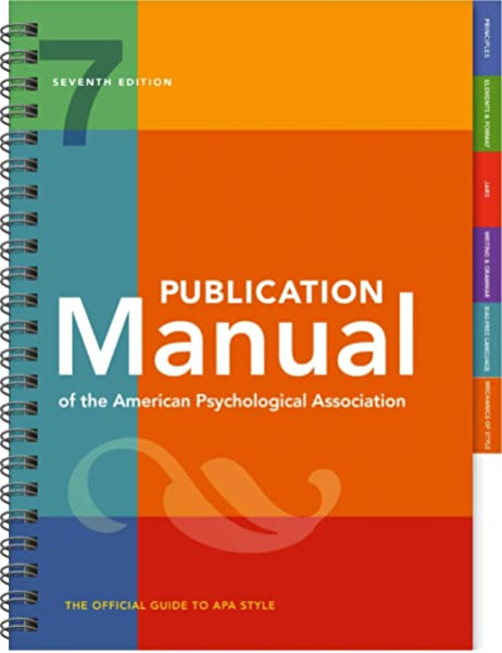 Amazon Com Publication Manual Of The American Psychological Association 7th Edition 2020 Copyright 9781433832178 American Psychological Association Books