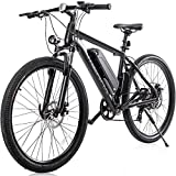 "Merax 26"" Aluminum Electric Mountain Bike Shimano 7 Speed E-Bike, 36V Lithium Battery 350W Electric Bicycle for Adults"