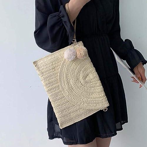 Details about  /Fashion Straw Women Crossbody Bag Boho Beach Shoulder Messenger Zip Handbag H1