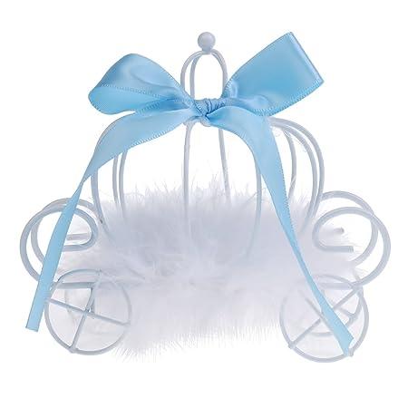 Gazechimp Cajas de Caramelo de Dulce de Metal Diseño con Carro de Calabaza Accesorio Decorativo de Mesa de Boda de Cumpleaños 3 Colores - Azul: Amazon.es: ...