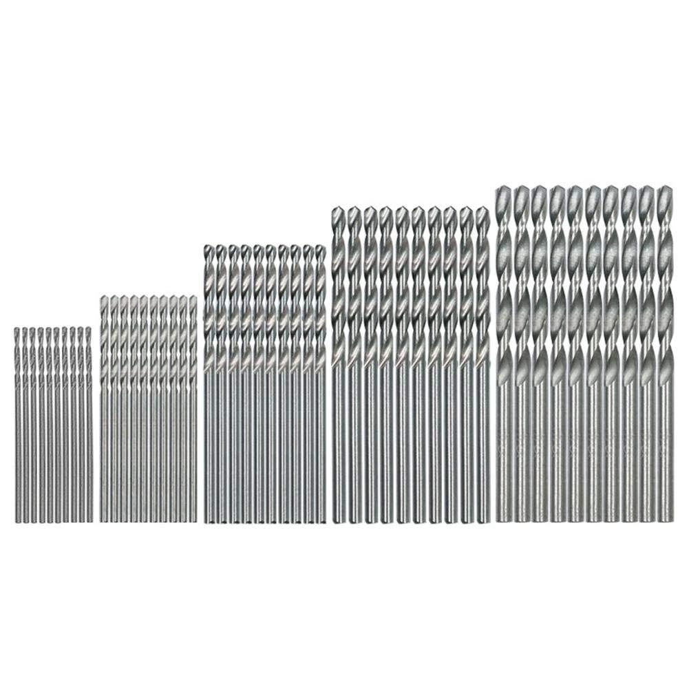 50 pcs 1.0– 3.0 mm Poigné e ronde HSS forets Outil de menuiserie de forets Gowind6