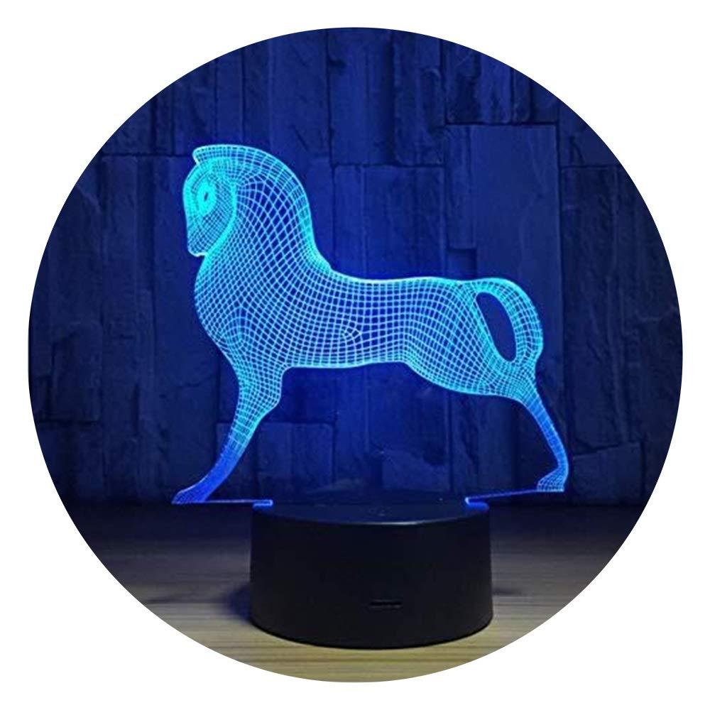 JINXUXIONGDI Visual Stereo Vision 3D Illusion Cute Colorful Pony Night Light, Acrylic Baby Child Sleep Light Children's Decoration