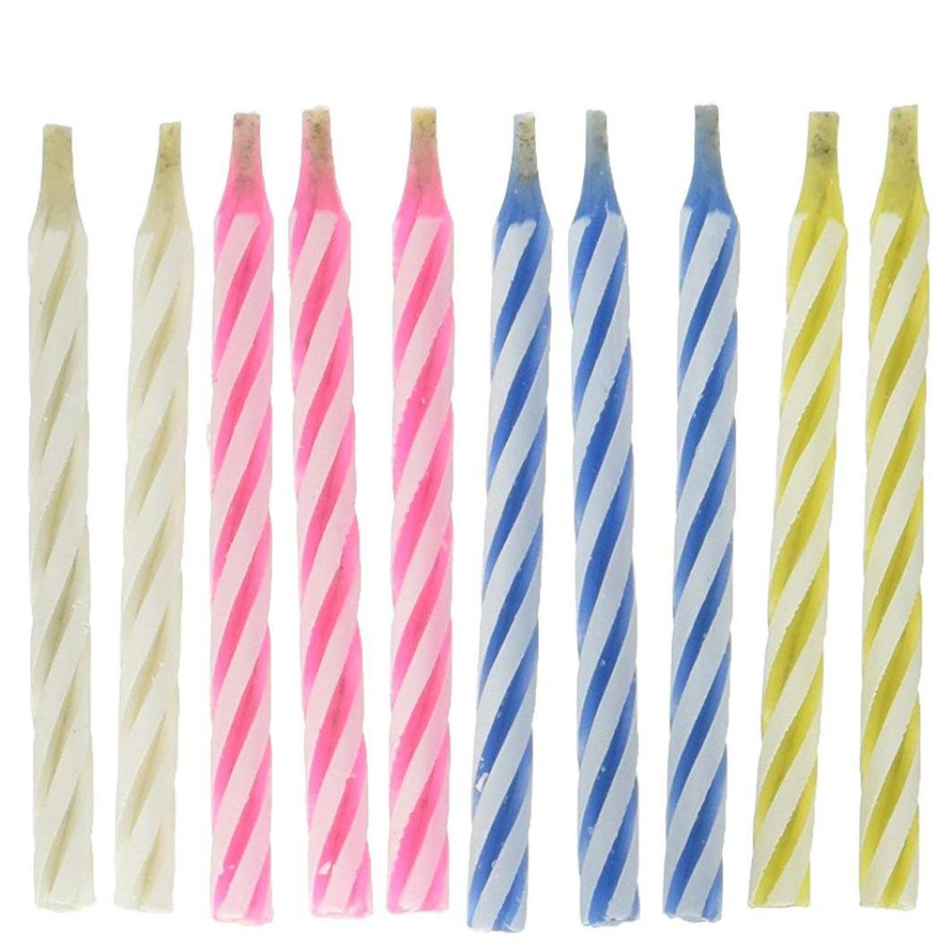 10pcs Magic Relighting Candles Birthday Cake Candles Party Trick Joke w// IS