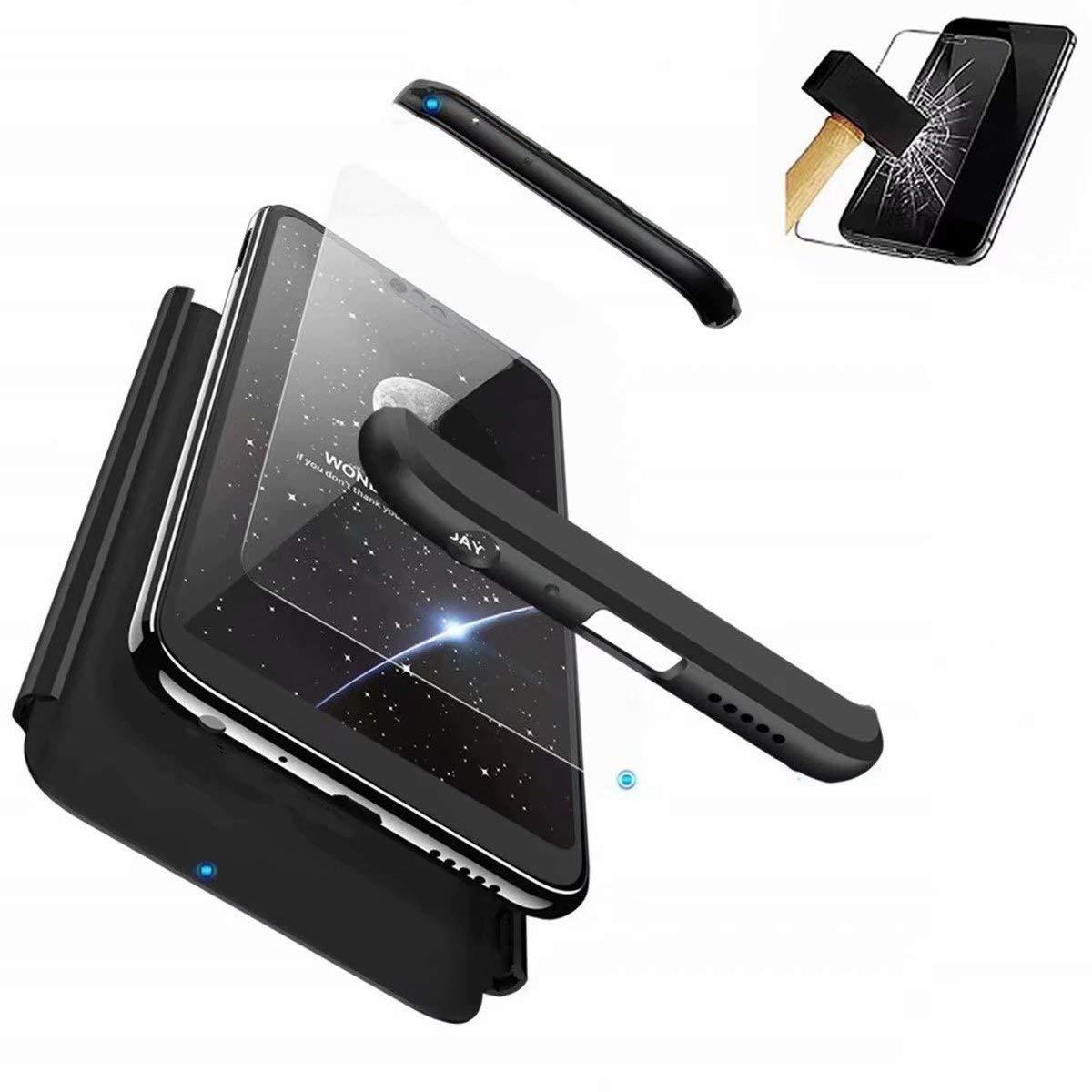 Anti-rasgu/ños Carcasa para Samsung Galaxy S9 Cristal Templado Plus Negro TXLING Funda Samsung Galaxy S9 Ligera Plus Bumper 3 en 1 Estructura 360 Grados Case Ultra-Delgado