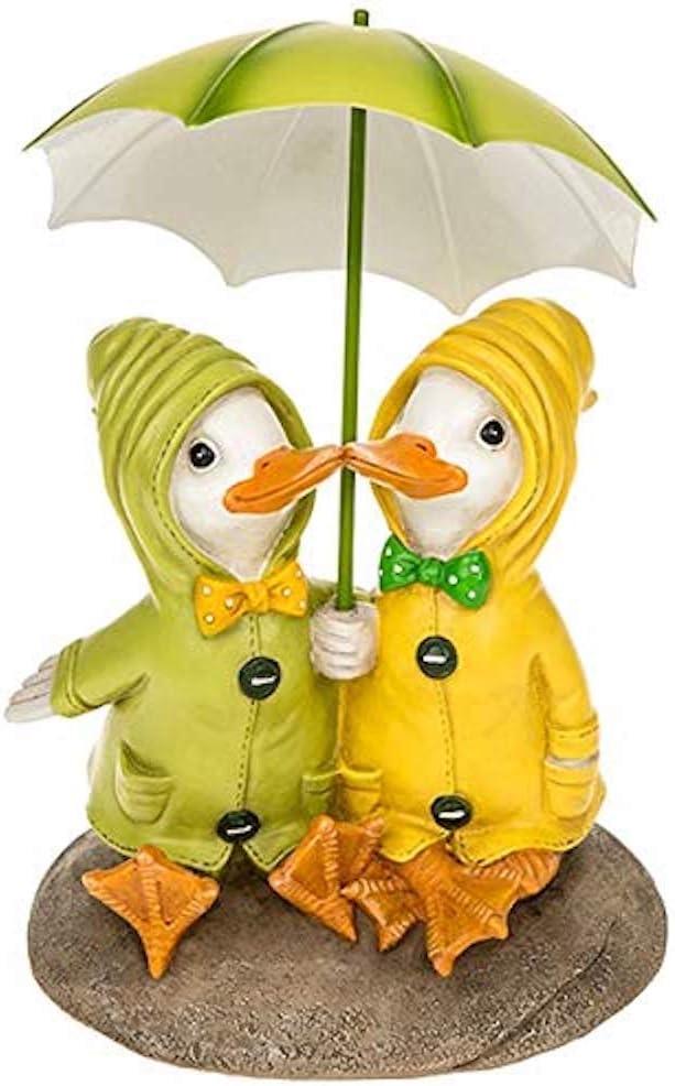 Shudehill 32 cm Dally Duck with Solar Powered Lantern and Umbrella Garden Ornament