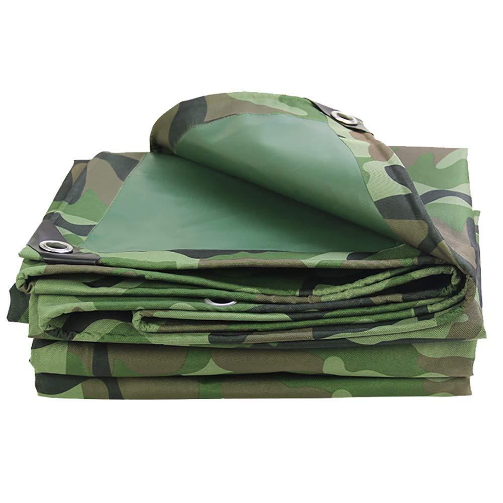 A 2×2m EU-14-Haucalarm BÂche de Prougeection Pratique Tente extérieure bÂche imperméable bÂche imperméable épaissie de Trous Camping en Plein air Camouflage Tente en Tissu Oxford