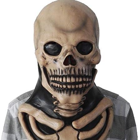 ZKLIB Cráneo Máscara Terrorista Cabeza Halloween Látex Casa ...