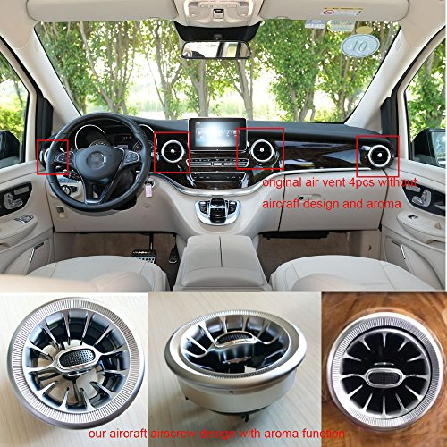 V Mercedes Benz Class Cars (special auto accessories 4pcs Set Car ar ducts Aircraft Airscrew Design Car air freshener Car Air Purifier Car Vent Outlet Fragrance Perfume Mercedes-Benz V Class V260 W447)