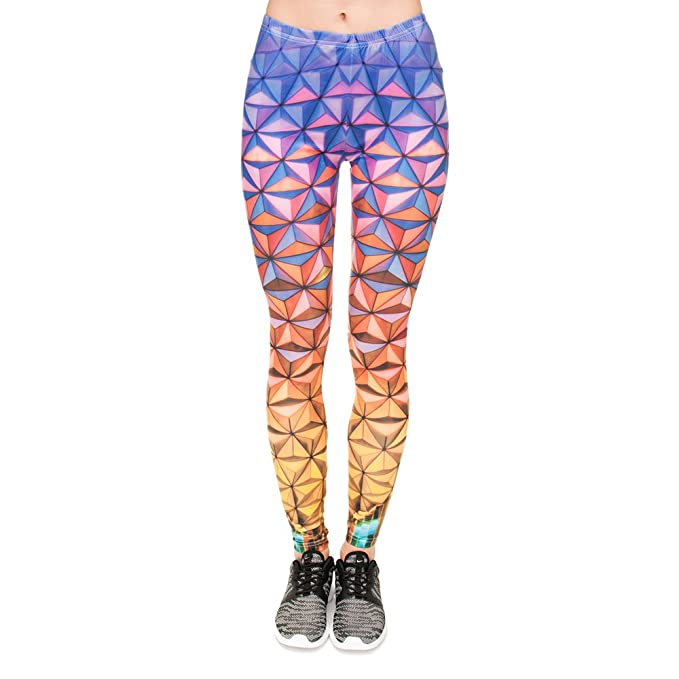 Pop Fashion Women Brightly Colored Printed Leggings
