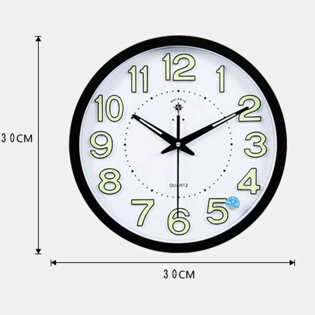 Wall Clock Meters 12 Inch Luminous Modern Living Room Bedroom Quiet Clocks Simple Creative Clock Quartz Clocks
