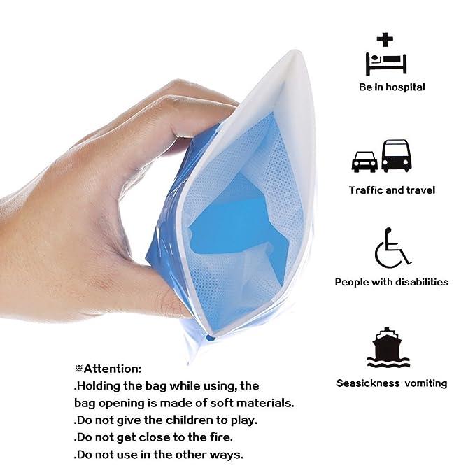 Al aire libre Viajes de emergencia - Inodoro portátil bolsa de orina Ravel desechables urinario vomitar bolsas para los hombres, las mujeres y los niños 4 ...