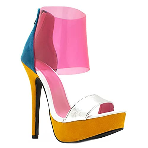 836f99f73ed4f Shoe Republic LA Women s Susanna Clear Sandal (7.5