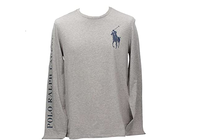 Polo Ralph Lauren 710693642001 Camiseta Hombre Gris M: Amazon.es ...