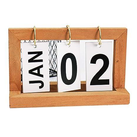 Calendario Perpetuo Da Parete.Lokauf Calendario Perpetuo In Legno Flip Calendario Da