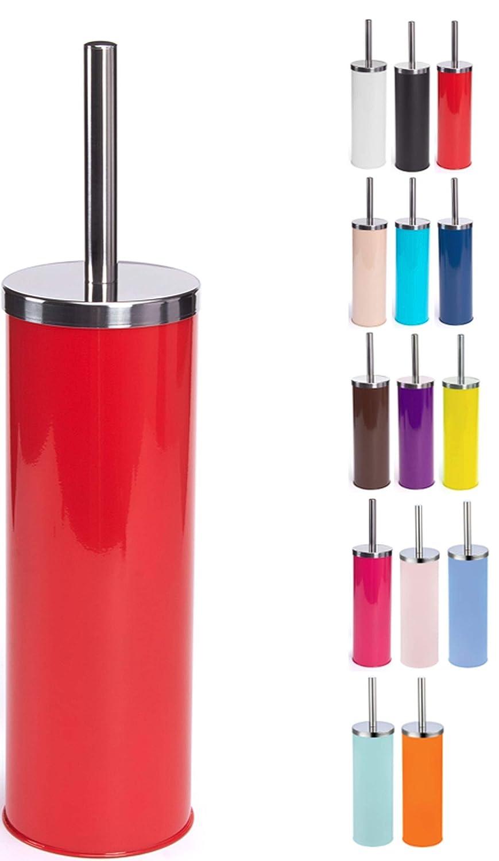 MSV 141522 - Escobillero de WC (Acero Inoxidable, Rojo, 30 x ...