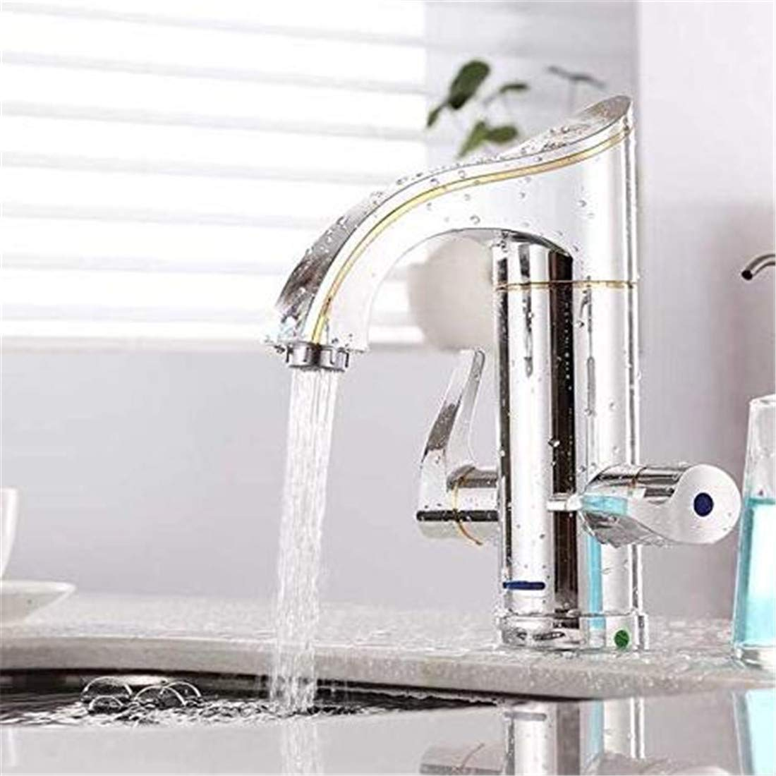 Chrome Kitchen Sink Tapfaucet That is, Hot Heating Faucet Small Kitchen Treasure Speed Water Heater Sink Basin Bathroom, A