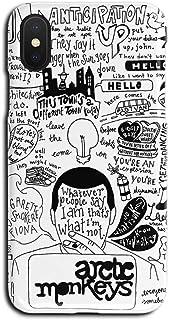 ERQINGT Etui pour Téléphone Portable Coquille Rigide pour Téléphone Portable Anglais Créatif XR Apple X 6S Demi-Pack pour iPhone XS Max Marée 8Plus Mat Hommes Et Femmes 7