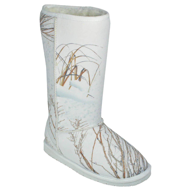 DAWGS Mossy Oak Women's 13 Inch Australian Style Boot,Winter Brush,7 M US