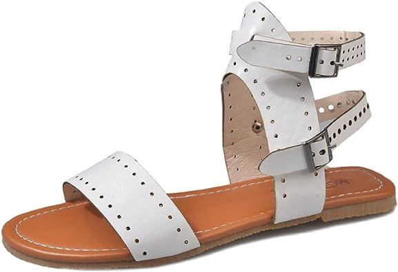 Juleya Damen Offene Schuhe Sommer Sandalen Flache