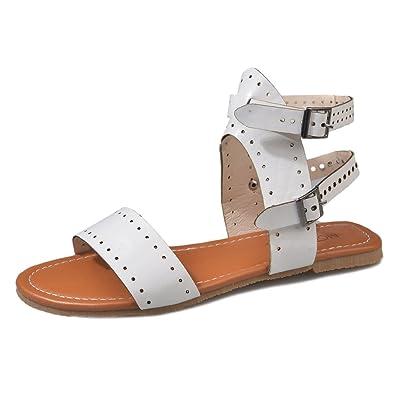 Mujer Peep-Toe Sandalias Moda Plano Zapatos Primavera Verano ...