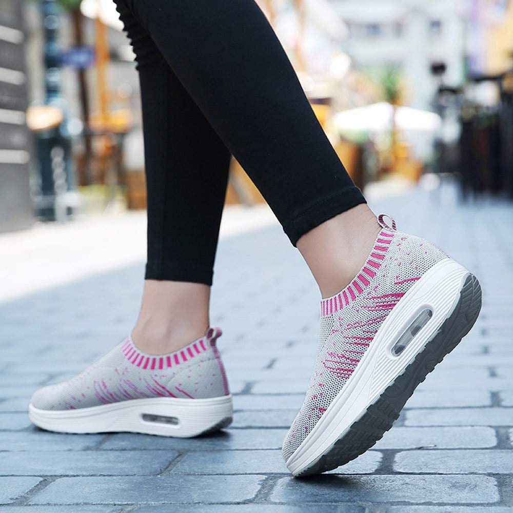 BeautyTop Mode Femme Chaussures de Air Cushion Course /à Pied /éPais Chaussures Thick-Soled Outdoor Mesh Gym Fitness Sport Trail Baskets Chaussures Outdoor Running Sneakers